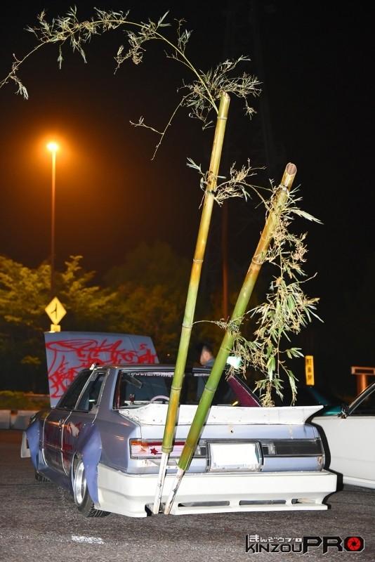 見よ、この見事な芸術的枝振りの竹製竹やりマフラーを!!