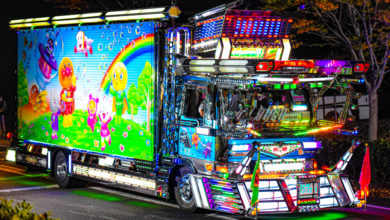 実は仕事車!日本一子供が喜ぶアンパンマンデコトラ哥麿会の桃姫クルージングレンジャーの豪華絢爛電飾全開ナイトシーン!
