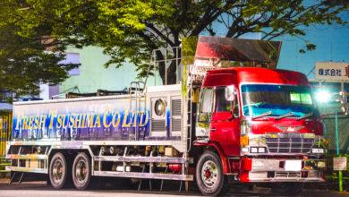 激渋!鬼グリル&ハイルーフのスーパードルフィン鮮魚車フレッシュ対馬は長崎→東京便!