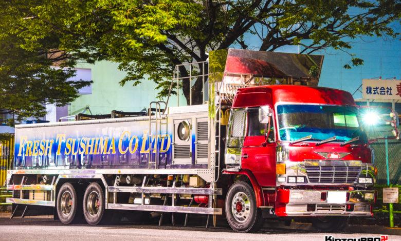 Photo of 激渋!鬼グリル&ハイルーフのスーパードルフィン鮮魚車フレッシュ対馬は長崎→東京便!