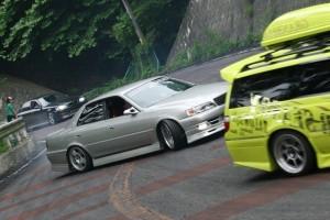 車線割りまくり!伝説の神奈川ストリートドリフトチームカーシーズンの真似不可能な暴れっぷりw 1