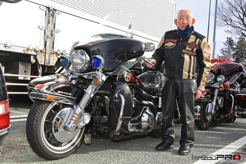 Photo of おそらく世界最強バイクチームの最高齢ハーレーバイカー門馬さん95歳!