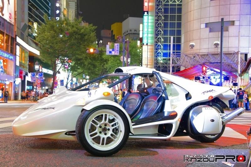 Photo of アメリカ暴走族のボスキャラT-REXが渋谷のストリートを走る姿はまるでアキラのネオ東京!