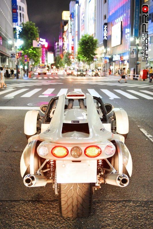 本邦初?アメリカの暴走族バイクギャングのボスキャラT-REXを渋谷のストリートに参上させた! 7