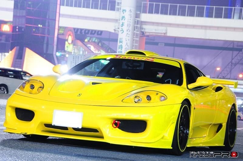大胆なダクトが印象的なターゲットデザインフルエアロの黄色いフェラーリ360 モデナ! 3